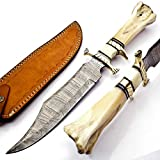 """Best hunting knives - 15"""" Handmade Damascus Steel Hunting Knife, Fixed Blade Review"""