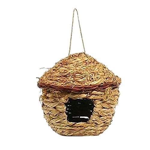 Sharplace Nid d'oiseaux Nichoir Suspendu Jardinage Bird House Craft Nature - #E Grass House S