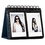 CAIUL Compatible 68 Pockets Desk Calendar Style Photo Album for Fujifilm Instax Mini 7s 8 8+ 9 25 26 50s 70 90 Films (Navy Blue)