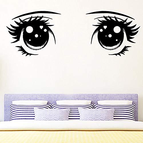 sanzangtang Nette Augen wasserdicht Wandaufkleber Wandkunst Dekoration Schlafzimmer Familie Party Schönheitssalon Dekoration Tapete M 30cm X 74cm