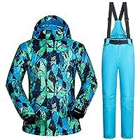 スキー服 防水服男性スキースーツ防風スキージャケットとパンツ男性の冬の暖かいスキーやスノーボードスーツジャケット+パンツ スキースーツ (Color : A, Size : XXXL)