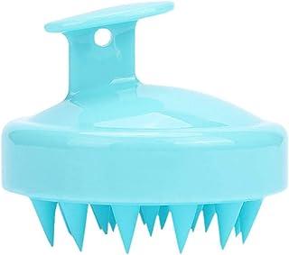 Hårtvätt Brush Silicone Scalp Mass Head Portable massage borste Shower Bathing Tool, Blå
