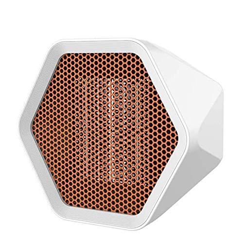 househome - Calefactor eléctrico silencioso, portátil, con cerámica, temperatura ajustable, mini calefactor para dormitorio, oficina, baño