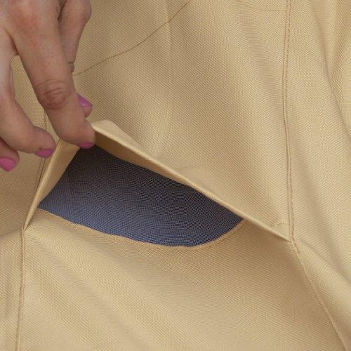Classic Accessories 55-584-011501-00 Veranda Water-Resistant 84 Inch Round Hot Tub Cover,Birch,84 inches