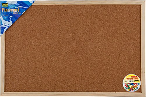 Idena Pinnwand-Set (100er Box Nadeln + Pinnwand 40 x 60 cm)