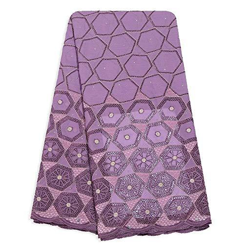 XueKee Afrikanisches Spitze-Gewebe Nigerian Stoff Schweizer Voile-Baumwolle for afrikanische Frauen-Partei-Kleid-Entwerfer-Spitze-Gewebe zu bilden alle Arten von Gewebe You Need für Party-Kleid