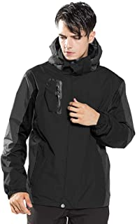 LUOLUO Men's Jacket Mountain Waterproof Jackets Windproof Rain Jackets