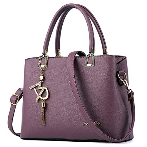 Womens Purses and Handbags Shoulder Bags Ladies Designer Top Handle Satchel Tote Bag (Violet)