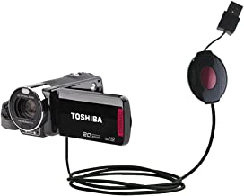 Compact and Retractable USB Power Port Ready Charge Cable Designed for The Toshiba Camileo X200 and uses TipExchange