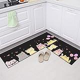 Alfombra de cocina, armario, zapatero, alfombra decorativa, alfombra antideslizante baño, alfombra de entrada lavable NO.5 50X80cm
