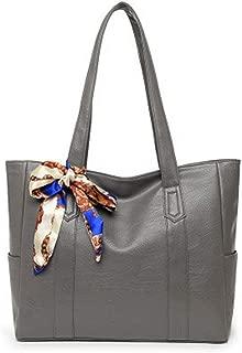 ZXK Simple Multi-Function Large Capacity Shoulder Bag Shoulder Slung Leather Handbag Fashion (Color : Gray)