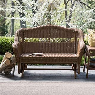 Tremendous Amazon Com Wicker Benches Patio Seating Patio Lawn Lamtechconsult Wood Chair Design Ideas Lamtechconsultcom