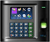TriPoz US10C-ID Fingerprint + RFID Time Clock, Plus Time and Attendance Management Software