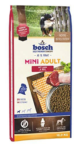 bosch HPC Mini Adult mit Lamm & Reis | Hundetrockenfutter für ausgewachsene Hunde kleiner Rassen, 1 x 15 kg