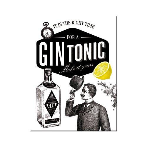 Nostalgic-Art 14341 Open Bar - Gin Tonic, Magnet 8x6 cm