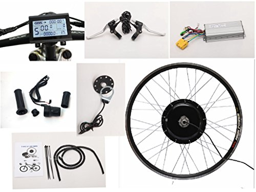 NBPOWER 66cm 48V 1500W E-Bike Conversion Kit, Ebike Kit, 1500W Getriebeloser Hub Motor, 40A eBike Controller mit LCD Display und Drehgriff.