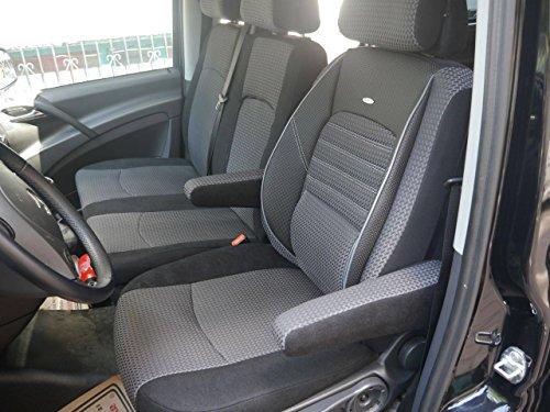 seatcovers by k-maniac Coprisedile Sedile conducente Doppia Panca Due braccioli