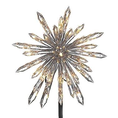 Kurt Adler UL1883 UL 30-Light Crystal Snowflake Treetop