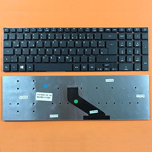 kompatibel für Acer Aspire V3-771G Tastatur Farbe: schwarz - Ohne Beleuchtung, Ohne Rahmen - Deutsches Tastaturlayout - Version 1