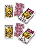 Outletdelocio.. Pack 2 Baraja española Fournier. Guiñote, mus,... 40 Cartas 100% plastico Lavable. Calidad Casino.