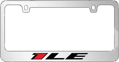 iPick Image - 3D Color Logo Mirror Chrome Metal License Plate Frame - Camaro 1LE