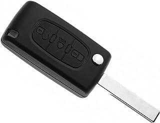 OBEST NIU Flip Key Case Schlüssel Gehäuse mit 3 Knöpfen für Citroen C2 C3 C4 C5 C6 Picasso CE0536
