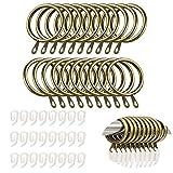 TSKDKIT 24 anillos de cortina de metal con clips, anillos de cortina de 30 mm...