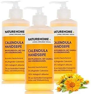 NATUREHOME Bio Handseife im Set 3x300ml Spender. Natürliche Flüssigseife für zuverlässige Reinigung von Hand und Haut, Zuhause und unterwegs