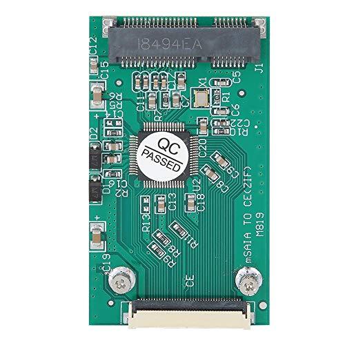 Topiky Riser Kartenmodul,Professionelle Riser Karte Grün ABS MSATA-zu-CE/ZIF SSD Solid State Laufwerk Solid State Disk SSD Adapterkonverter Computerzubehör für Dell für Fujitsu