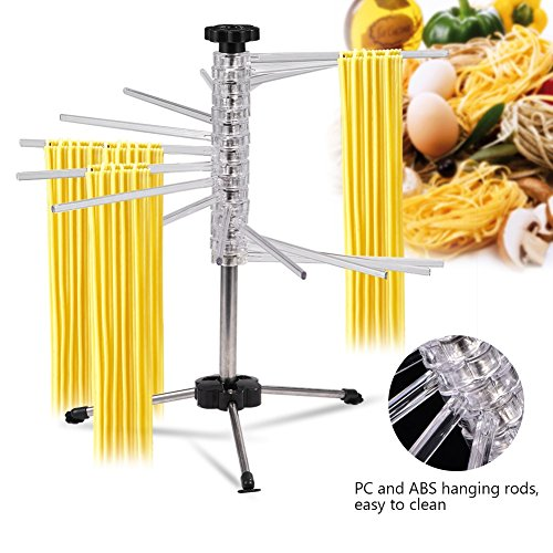 GOTOTOP Tacapasta Stendipasta Essiccatore per Pasta Pieghevole Stand Stendino Asciugatrice Drying Rack Holder,in ABS Plastica