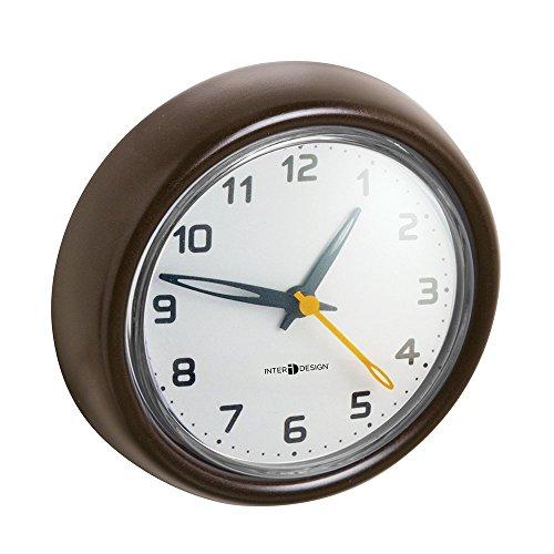 mDesign – Reloj de baño con ventosa – Reloj de pared fácil de ...