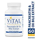 Vital Nutrients - Pancreatin & Ox Bile Extract - Natural Digestive Enzyme Supplement Suitable for Men and Women - Helps Break Down Protein, Fat, and Carbs - 60 Capsules per Bottle