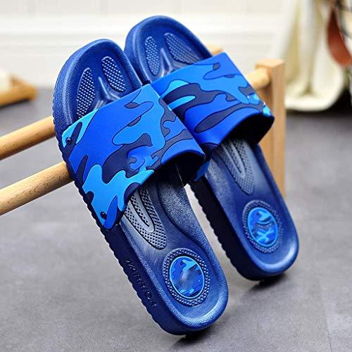 TQJ Apatillas de Baño Antideslizantes Zapatillas De Baño Ducha para Hombres Playa Y Piscina Zapatos De Piscina Inicio Verano Baño Baño Hogar Zapatillas De Interior Sandalias De Ducha (Size : 43)