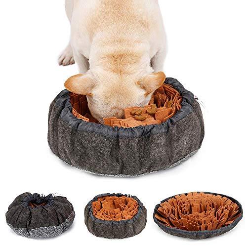 LIVACASA Alfombra Olfato Perro Mascotas, Snuffle Mat, Juguete de Inteligencia para Perros, Lavables a Máquina, Plegable Aviliable, Entrenamiento para Mascotas Pequeños y Grandes Marrón