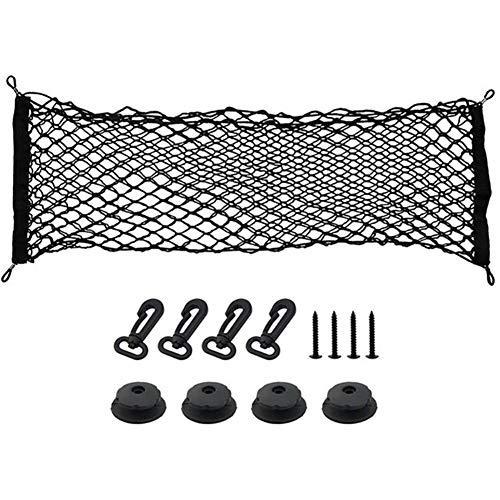 MEICHENG-DZ Easy to install Car Trunk Net Holder Cargo Luggage Storage Organizer Net Mesh With 4 Hooks And 4 Screws And 4 Hook Adapters For Van Pickup (Color Name : 110X50CM)