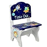 Fantasy Fields von Teamson TD-12222A Weltraum-hölzerne freche Zeit-Stuhl Kindersitz