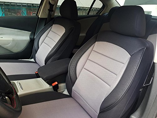 seatcovers by k-maniac Fundas de Asiento para Nissan Qashqai I Universal Negro y Gris V733846