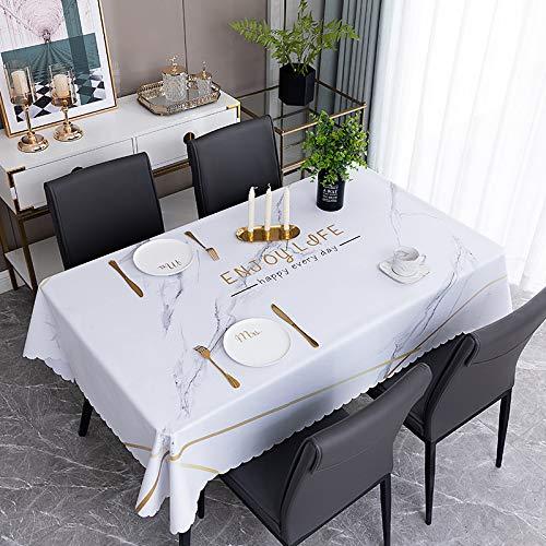 sans_marque Manteles, utilizados para mesas de interior y exterior, manteles - manteles de cena sólidos para la boda restaurante cafeterías 100* 160cm de encaje