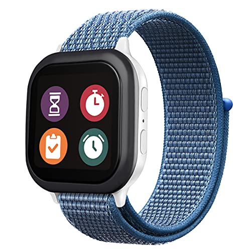 Gizmo Watch Band Replacement for Kids, Breathable Hook and Loop Nylon Smartwatch Band Compatible with Verizon Gizmo Watch 2 / Gizmo Watch 1