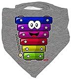 HARIZ - Foulard per bambini con xilofono ride e biglietto regalo grigio Matita grigia.