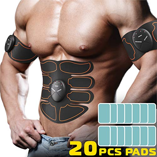 CR Electronic Hip Muscle Trainer-The Flex Belt Abdominal Muscle Toner-Abs Machine Workout-Portable Stomach Toner-Muscle Training Gear Ab Workout Equipment for Women-Ultimate Abs Belt for Men,Black