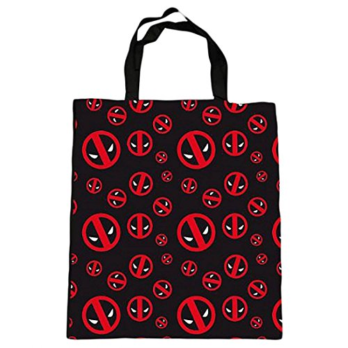Marvel Comics - Deadpool - Tasche Umhängetasche - Jute Beutel - Logo