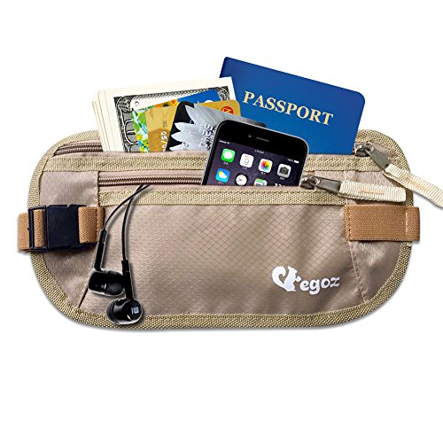 Cashew By Egoz Travel Gear Money Belt Undercover Waist Bag Pouch Bag...