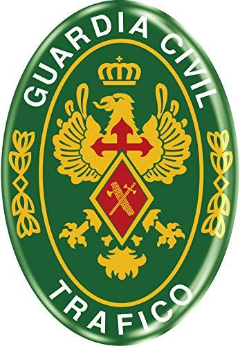 Artimagen Pegatina Oval Logotipo Guardia Civil Tráfico Resina 45x65 mm.