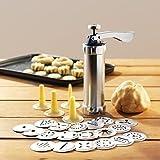 Rokoo Keks Presse Set Keksmaschine Maschine Kit Edelstahl 20 Discs 4 Vereisung Tipps Spritz Teig Kekse machen Werkzeuge