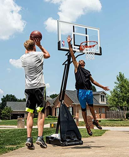 "Spalding Ultimate Hybrid 54"" Acrylic Portable Basketball Hoop"