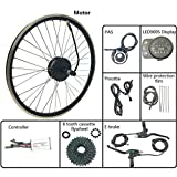 GJZhuan Bicicleta asistida Modificación Kit de 48V Motor de Cubo del Volante Trasera 250W con LED900S Display 16-28 Pulgadas con radios 700C,27.5inch LED Sets