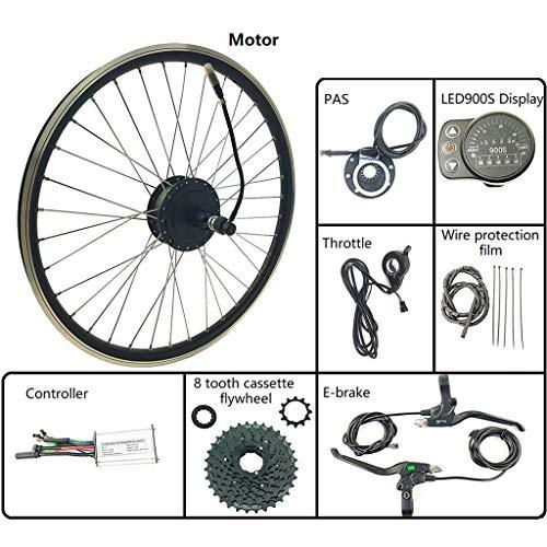 GGD Kit De Accesorios De La Bicicleta Eléctrica Kit De Bicicletas Modificación 48V 250W Trasera del Volante Motor De Cubo con LED900S Display 16-28 Pulgadas 700C,16inch LED Sets