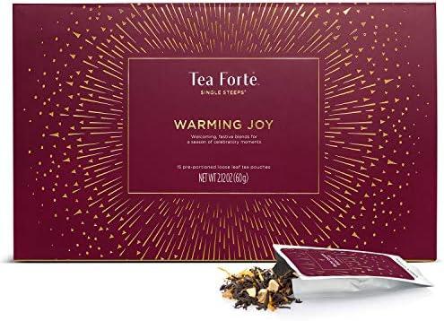 Tea Forte Warming Joy Single Steeps Loose Leaf Tea Sampler Gift Set Assorted Variety Holiday product image
