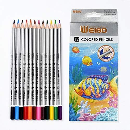Colored Pencils Premium Soft Core 12 Unique Colors No Duplicates Color Pencil Set for Adult product image